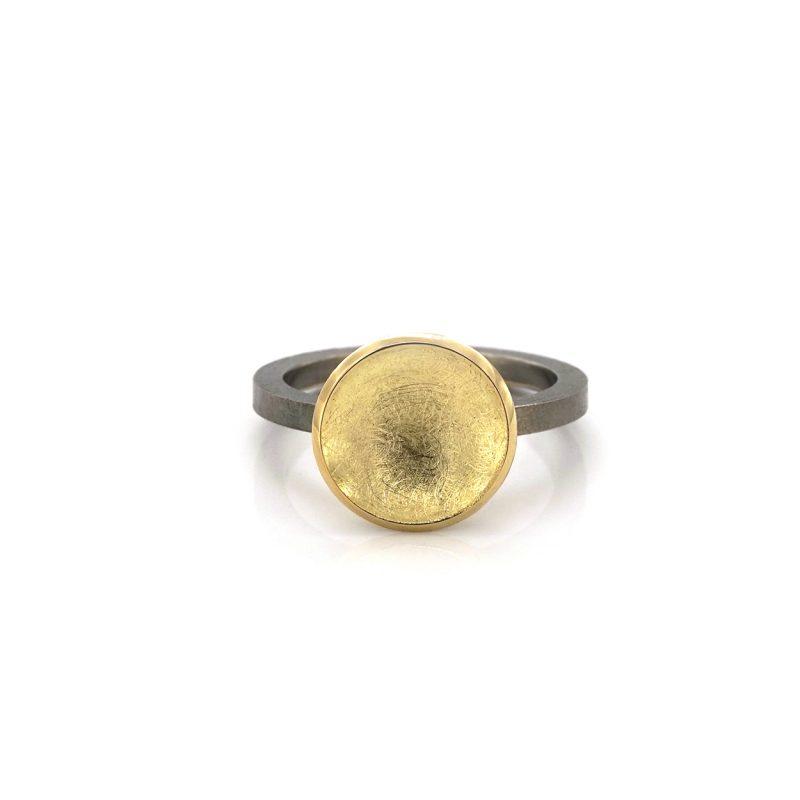 schotelring-zilver-gouden-schotel