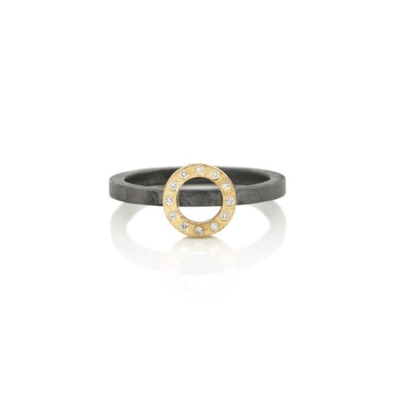 stackring-silver-gold-circle-with-diamonds BE.rzgd.20.12x005